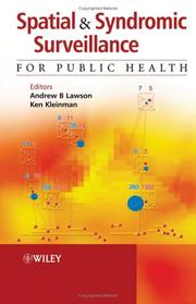 Cover of: Spatial and syndromatic surveillance for public health |