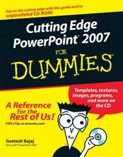 Cover of: Cutting Edge PowerPoint 2007 For Dummies | Geetesh Bajaj