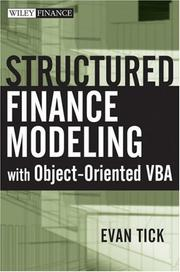 Cover of: Structured Finance Modeling with Object-Oriented VBA