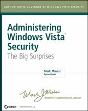 Cover of: Administering Windows Vista Security: the big surprises