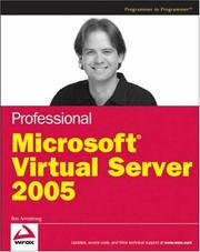 Cover of: Professional Microsoft Virtual Server 2005 (Programmer to Programmer) | Ben Armstrong