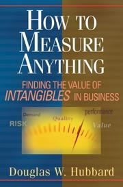 Cover of: How to Measure Anything | Douglas W. Hubbard