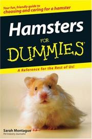 Cover of: Hamsters For Dummies | Sarah Montague