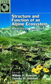 Cover of: Structure and Function of an Alpine Ecosystem |
