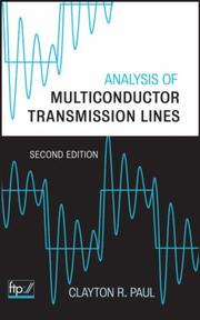 Cover of: Analysis of Multiconductor Transmission Lines | Clayton R. Paul