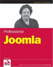 Cover of: Professional Joomla!