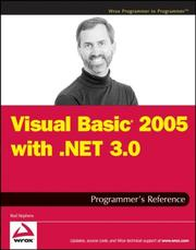 Cover of: Visual Basic 2005 with .NET 3.0 Programmer