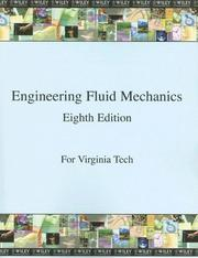 Cover of: Engineering Fluid Mechanics 8th Edition for Virginia Tech | Clayton T. Crowe