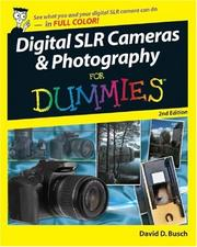 Cover of: Digital SLR Cameras & Photography For Dummies