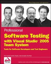 Cover of: Professional software testing with Visual Studio 2005 team system