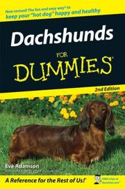 Cover of: Dachshunds For Dummies, Second Edition (For Dummies (Pets))