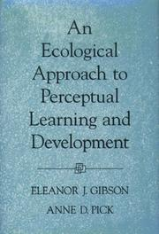 Cover of: An ecological approach to perceptual learning and development