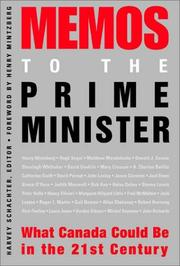 Cover of: Memos to the Prime Minister