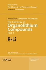 Cover of: The chemistry of organolithium compounds |
