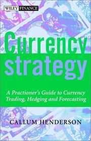 Cover of: Currency Strategy | Callum Henderson