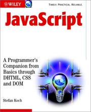 Cover of: JavaScript | Stefan Koch