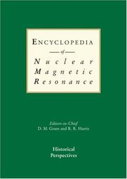 Cover of: Encyclopedia of Nuclear Magnetic Resonance, 9 volume set |