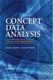 Cover of: Concept data analysis by