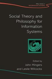 Cover of: Social Theory and Philosophy for Information Systems (John Wiley Series in Information Systems) |