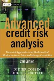 Advanced credit risk analysis by Didier Cossin