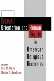 Cover of: Sexual orientation & human rights in American religious discourse