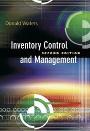 Cover of: Inventory Control and Management