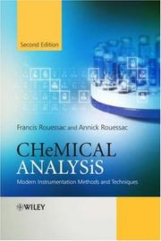Cover of: Chemical Analysis | Francis Rouessac