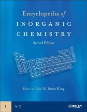 Cover of: Encyclopedia of Inorganic Chemistry | R. Bruce King