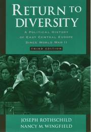 Return to diversity by Joseph Rothschild