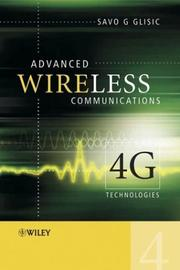 Advanced wireless communications by Savo G. Glisic