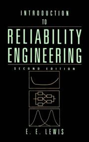Cover of: Introduction to Reliability Engineering