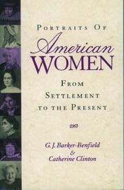 Cover of: Portraits of American Women: From Settlement to the Present