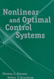 Cover of: Nonlinear and optimal control systems