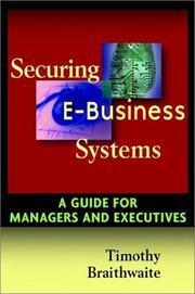 Cover of: Securing e-business systems