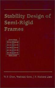 Cover of: Stability design of semi-rigid frames
