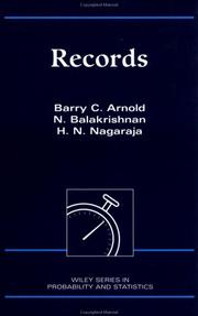 Cover of: Records | Barry C. Arnold