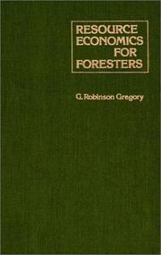 Cover of: Resource economics for foresters | G. Robinson Gregory