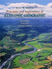 Cover of: Principles and applications of economic geography