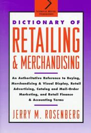 Cover of: Dictionary of retailing and merchandising