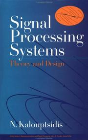 Cover of: Signal processing systems