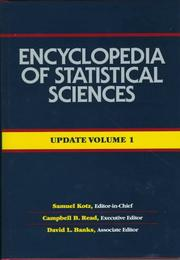 Cover of: Encyclopedia of Statistical Sciences , Update (Encyclopedia of Statistical Sciences Update)