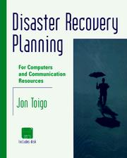 Cover of: Disaster Recovery Planning | Jon William Toigo