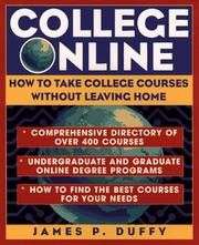 Cover of: College online | James P. Duffy