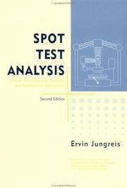 Cover of: Spot test analysis | Ervin Jungreis