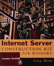 Cover of: Internet server construction kit for Windows