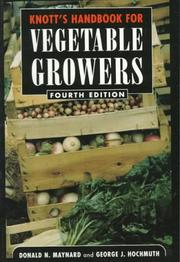 Cover of: Knott's handbook for vegetable growers