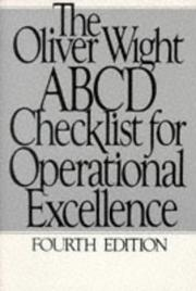 Cover of: The Oliver Wight ABCD Checklist for Operational Excellence | White Staff Oliver