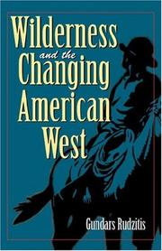 Cover of: Wilderness and the changing American West