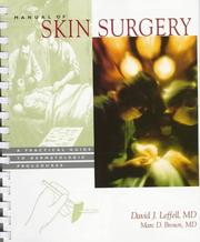 Cover of: Manual of skin surgery