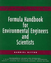 Cover of: Formula handbook for environmental engineers and scientists | Gabriel Bitton